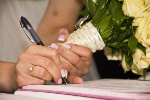 paperwork of getting married in France