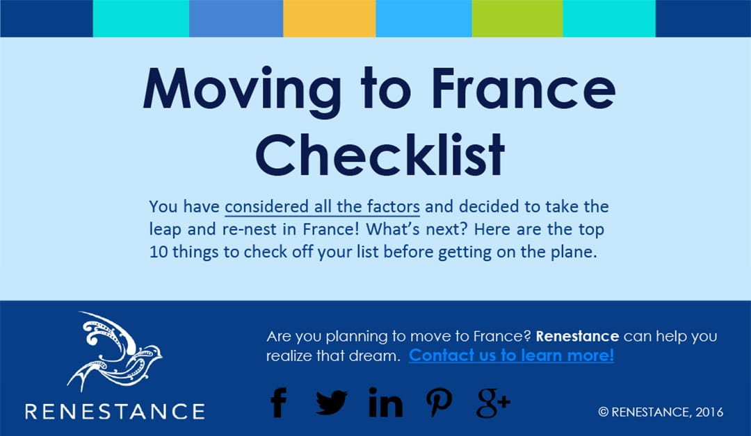 Moving to France Checklist