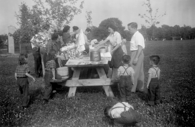 old picnic picture