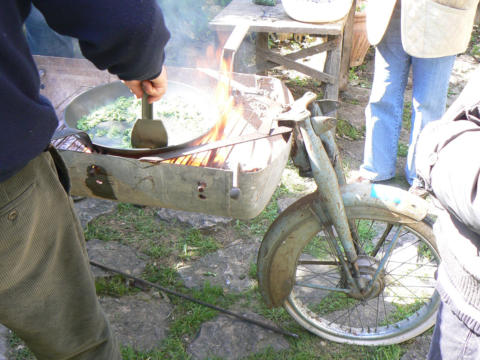 Omelette on a Bicycle!