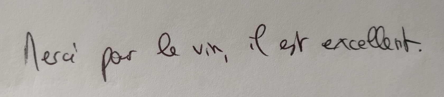 And this? That first letter is a capital M in French cursive! And check out the L and T.