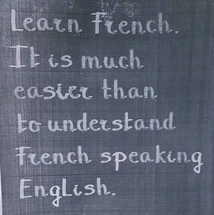 French speaking English sign
