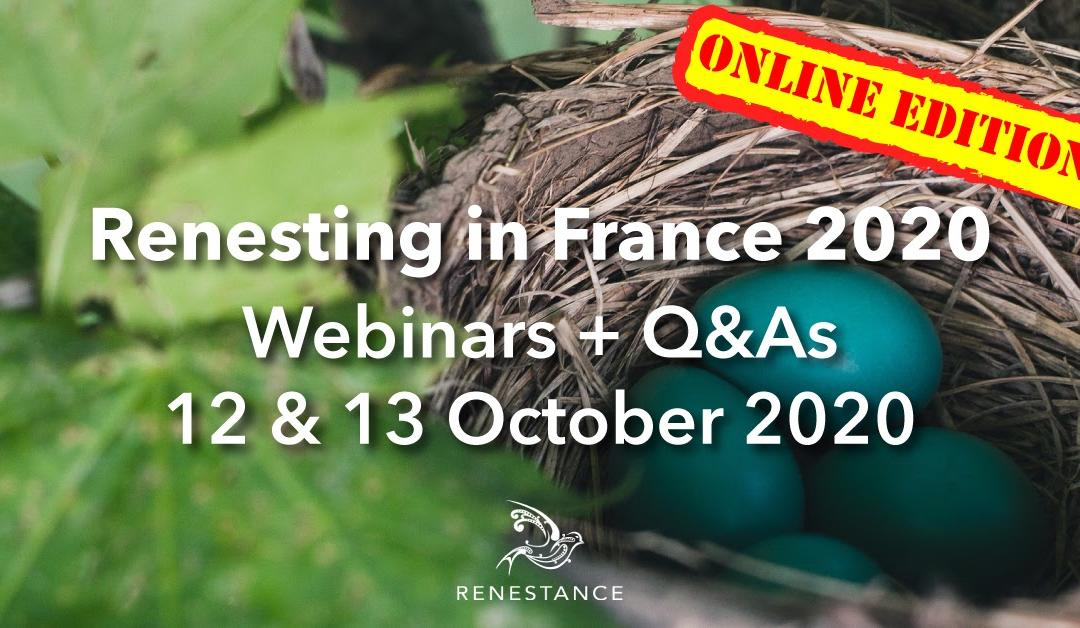 Renesting in France Webinars 2020: Topics and Speakers
